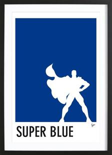 My Superhero 03 SuperBlue Minimal Poster