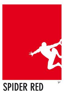 My Superhero 04 Spider Red Minimal Poster