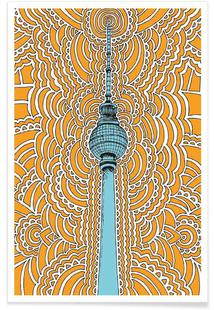 Fernsehturm Drawing Meditation (orange)