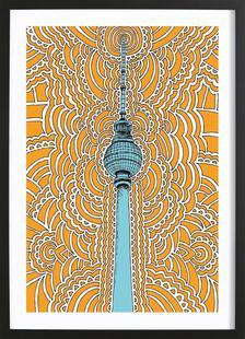 Fernsehturm Drawing Meditation (orange)