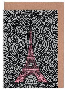 Eiffel Tower Drawing Meditation Pink