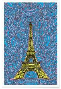 Eiffel Tower Drawing Meditation Yellow