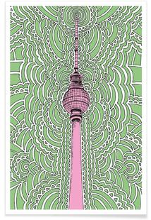 Fernsehturm Drawing Meditation (green)