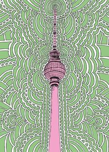 Fernsehturm Drawing Meditation (green)