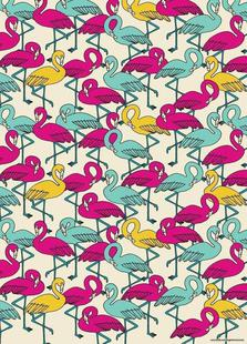 Wrapping Paper Flamingos