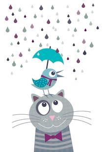 Day Bird And Cat