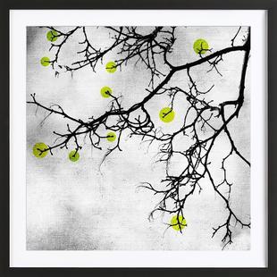 Winter tree Abstract Yellow