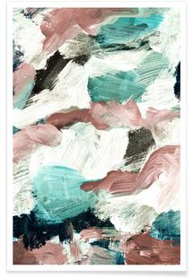 Abstract Painting VI Green Dusty Pink