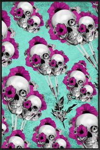 Skulls and Poppies Pattern