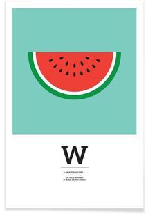 """""""The Food Alphabet"""" - W like Watermelon"""