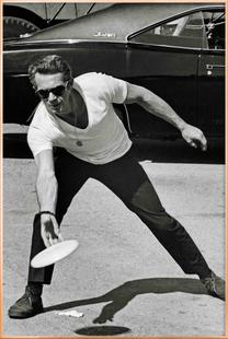 Steve McQueen Playing Frisbee