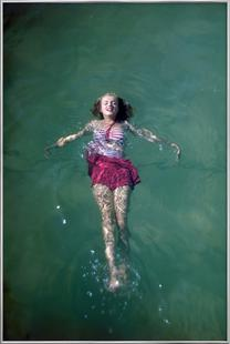 Young Marilyn Monroe in the Sea