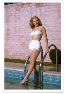 Young Marilyn Monroe Poolside II