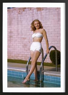 Young Marilyn Monroe Poolside II