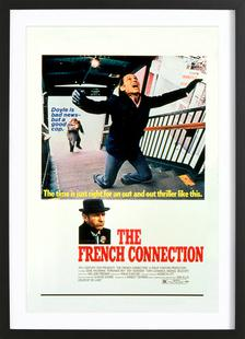 'The French Connection' Retro Movie Poster