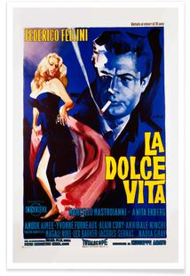 'La Dolce Vita' Retro Movie Poster
