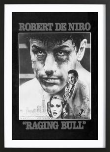 'Raging Bull' Retro Movie Poster