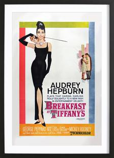 'Breakfast at Tiffany's' Retro Movie Poster