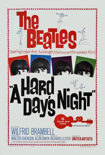 'A Hard Day's Night' Retro Movie Poster