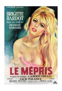 'Le Mepris' Retro Movie Poster