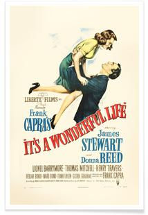 'It's a Wonderful Life' Retro Movie Poster