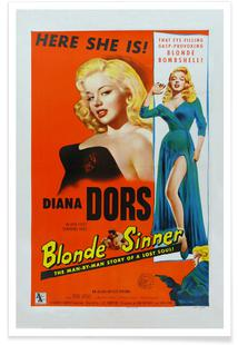 'Blonde Sinner' Retro Movie Poster