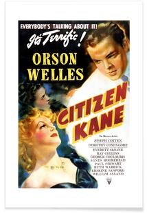 'Citizen Kane' Retro Movie Poster