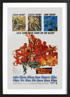 'The Dirty Dozen' Retro Movie Poster