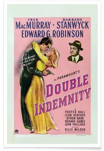 'Double Indemnity' Retro Movie Poster