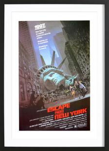 'Escape from New York' Retro Movie Poster