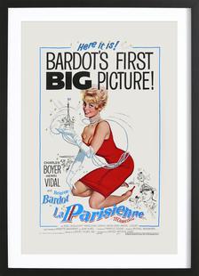 'La Parisienne' Retro Movie Poster