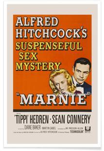 'Marnie' Retro Movie Poster