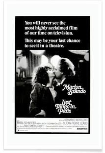 'Last Tango In Paris' Retro Movie Poster