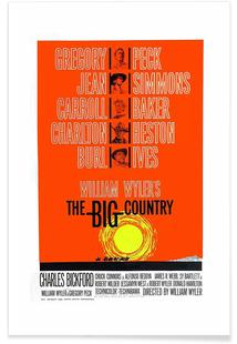 'The Big Country' Retro Movie Poster
