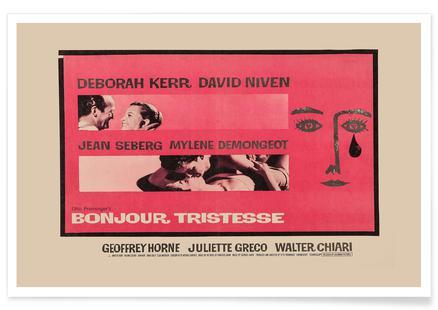 'Bonjour Tristesse' Retro Movie Poster