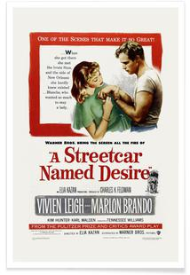'A Streetcar Named Desire' Retro Movie Poster