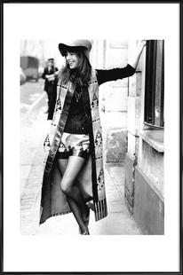 Jane Birkin wearing Yves St Laurent, Paris