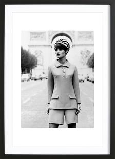 Outfit created by Pierre Balmain for airline hostesses of the future.