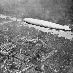 The airship Graf Zeppelin over London, 1931