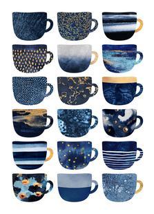 Pretty Blue Coffee Cups