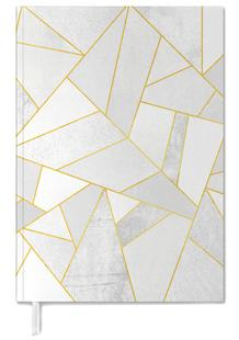 White Stone with Gold Lines