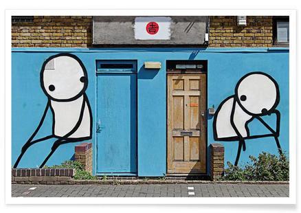 Streetart Blau 2