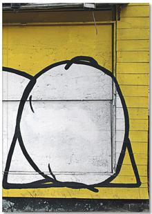 Streetart Gelb 3