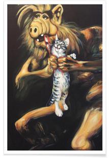 Alf Devouring His Cat