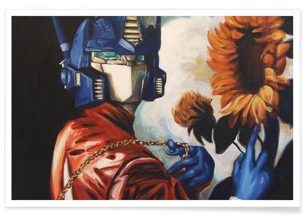 Optimus Prime With Sunflower