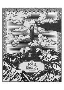 Vintage Mordor Tower Eye of Sauron