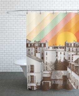 Rainbow Sky Above Paris