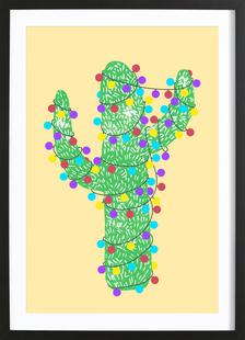 Festive Cacti - Lights Out (Yellow)