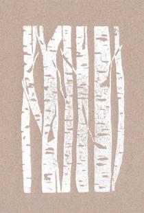 Woodcut Birches