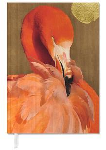 Flamingo with Golden Sun
